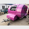 build sunday soft floor teardrop camper caravan light trailer travel tent camper rear folding