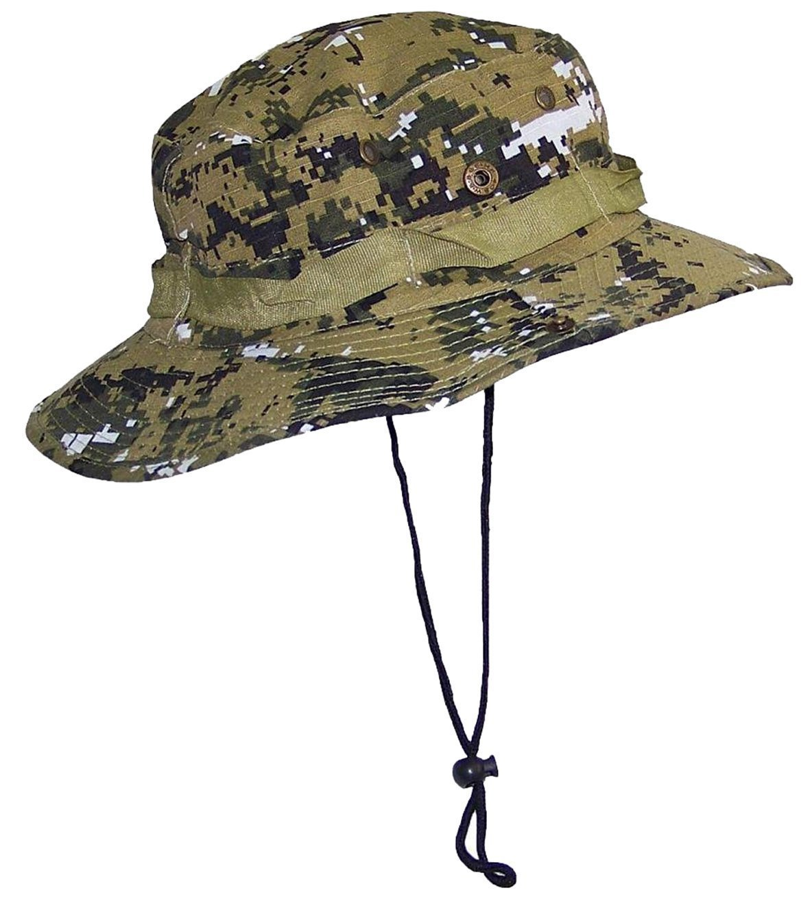 f0b84167093 Get Quotations · Natuworld Outdoor Camouflage Bucket Boonie Hat Summer  Snaps Up On Both Sides Jungle Hat For Wargame