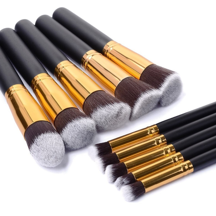 The cheapest high quality 10pcs kabuki makeup brushes set cosmetic brushes