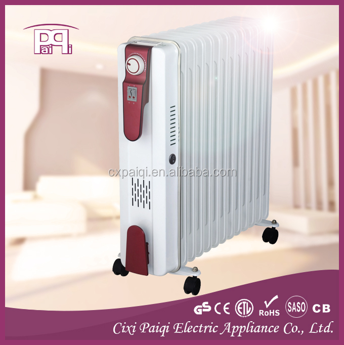 Oil filled radiator heater 7-13fins, with turbo fan oil heaters home