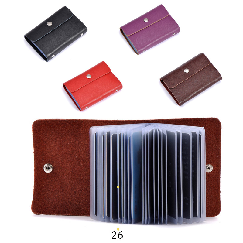 Buy High Quality Split Leather Hasp Big Capacity 23 Cards Id Card