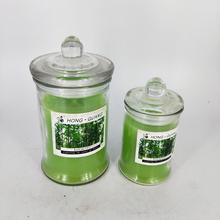2017 custom home decoration glass jar soy scented candle
