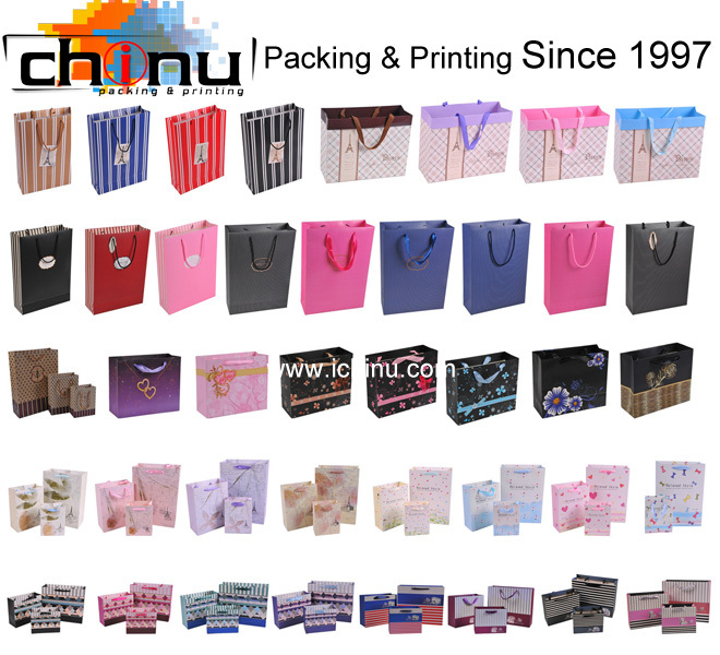 Shopping Promotion with logo printed paper cheap bags(210135)