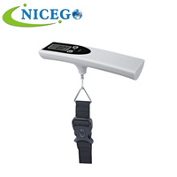 Portable 50kg Mini Electronic Digital Hand Held Spring Travel Luggage Hanging Weighing Scale