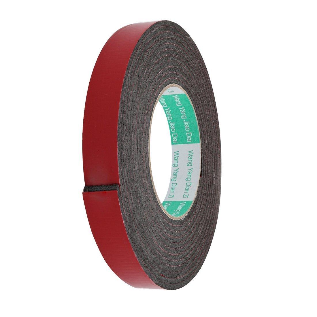 Door Seal 12x3mm Dual-sided Adhesive Shockproof Sponge Foam Tape 4M Length