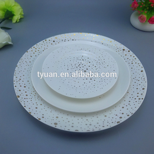 Hot Sale & High Quality gold charger plates bulk beaded plate plastic
