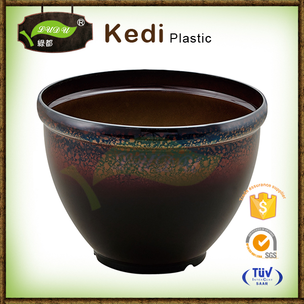 Save 10% free sample premium branded colorful PP plastic handwork painting flower pots planters