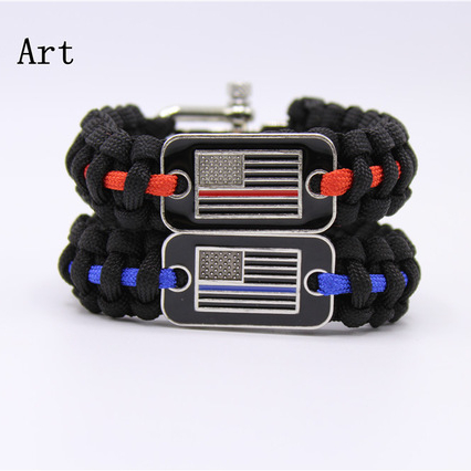 Blue Police Lives Matter Thin Blue Line Paracord Bracelet Usa America Flag Support Lives Police Matter Survival Bangle Bracelet Street Price Home & Garden Arts,crafts & Sewing