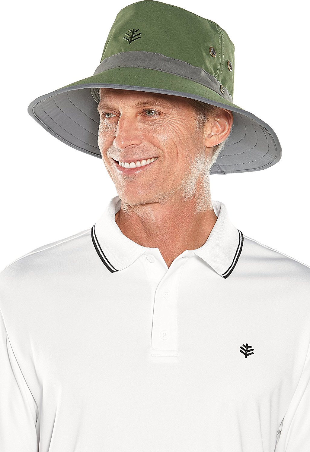 442bd4f1 Buy Coolibar UPF 50+ Mens Matchplay Golf Hat - Sun Protective in ...