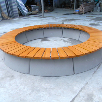 round wood patio top sale cheap patio round outdoor bench hdpe recycling plastic