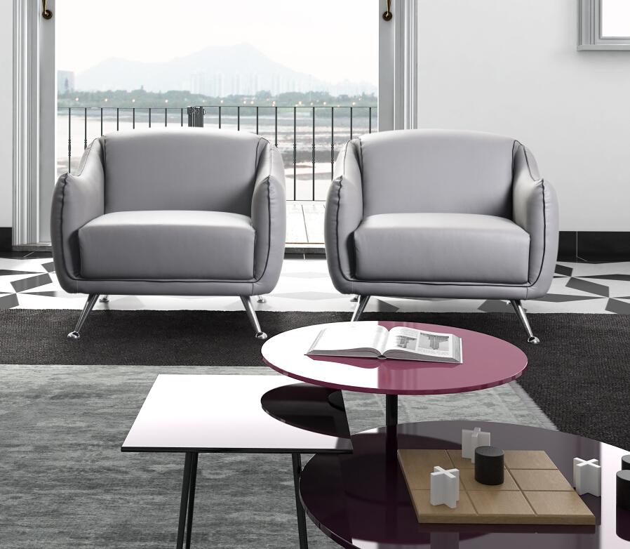 Modern Elegant White Color Noble Style Single Seater Sofa Living ...