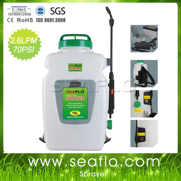 SEAFLO Sprayer 12V 16 Liters Battery Operated Sprayer