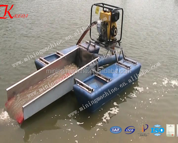 Small Gold Mining Dredges : Profession make mini dredge for gold used in small river