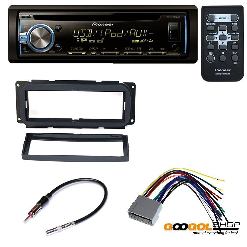 CAR CD STEREO RECEIVER DASH INSTALL MOUNTING KIT WIRE HARNESS RADIO ANTENNA FOR CHRYSLER JEEP DODGE 2002 -2009