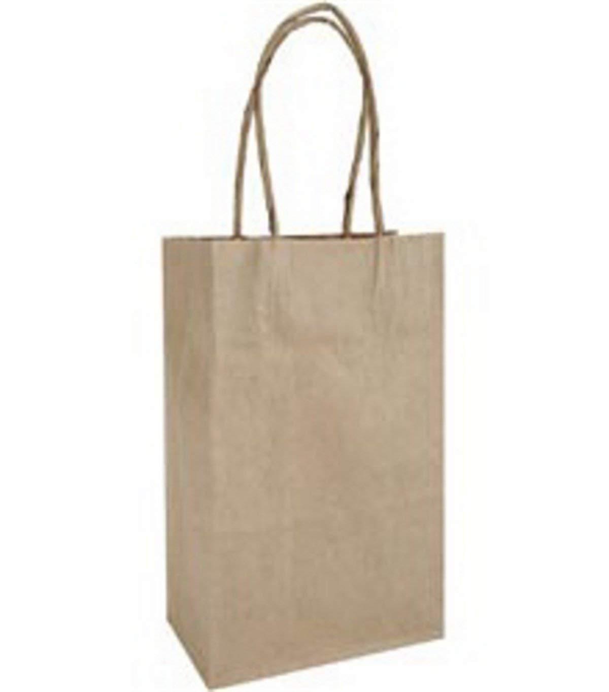 """DMD - Baker's Dozen Small Gift Bags 5-1/4""""X3-1/2""""X8-1/4"""" 13/Pkg - Kraft"""