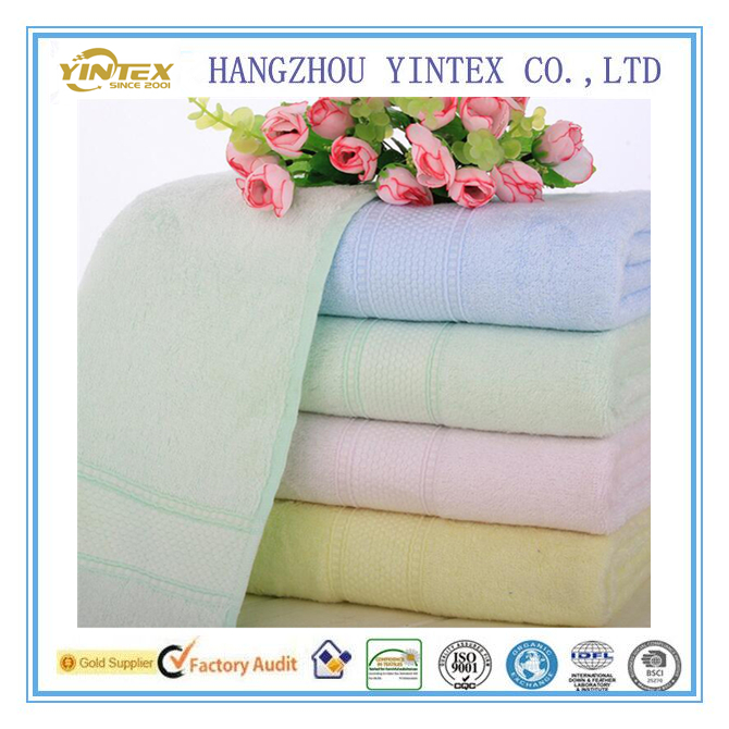Alibaba China Soft Towel Solid Pink Home Hotel Bath Towel