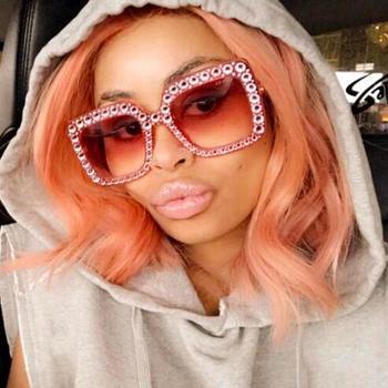 0503d62718f6f GUVIVI Mulheres Óculos De Sol 2018 Designer de Cristal Quadrado Oversize  óculos de Sol Óculos de