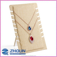 High end burlap jewelry necklace displays stand holder
