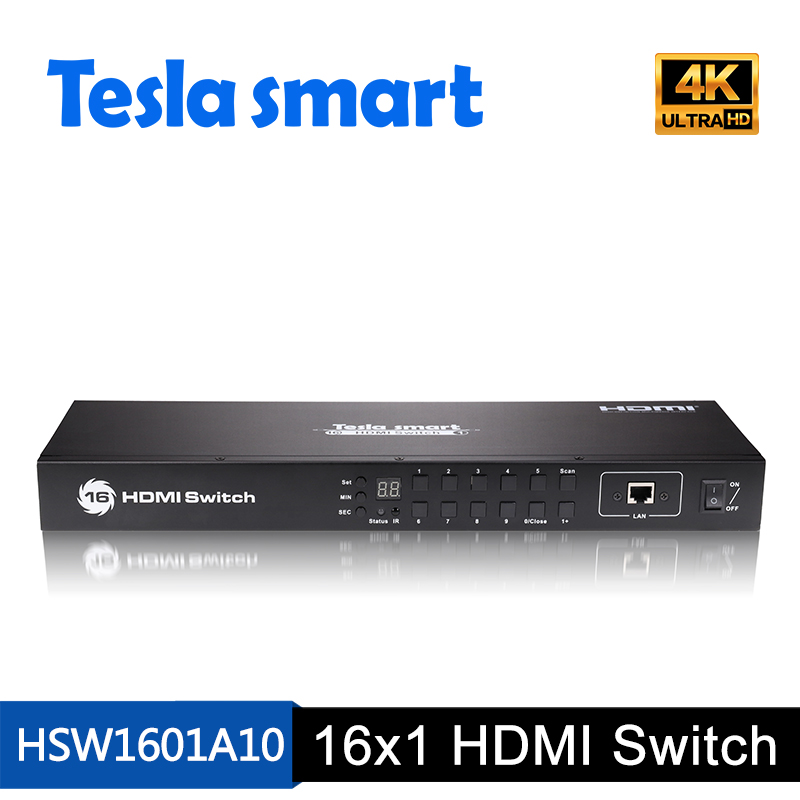 16 input 1 output 16x1 HDMI Switch With EDID emulators in every input ports