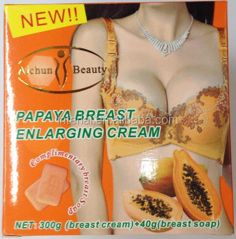 Aichun Beauty 300g papaya big breast cream breast enlargement cream and 40g breast actives papaya soap