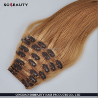Full Head Set 150g 18inch Clip In Human Hair Extension