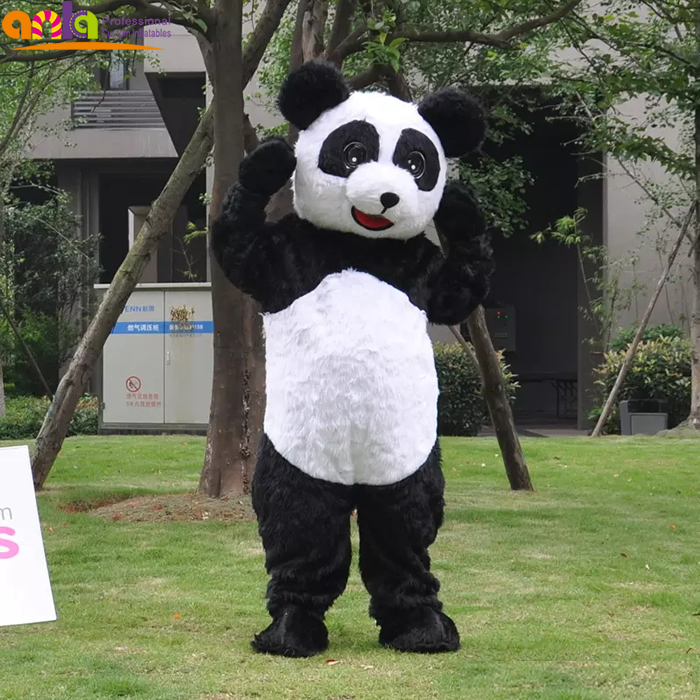 Customized design stitch cartoon character adult fur animal panda mascot costume