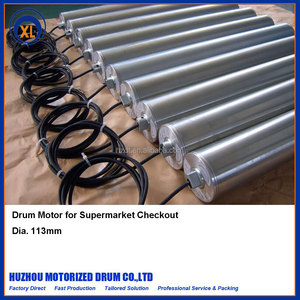 113mm Dia. drum motor motorized conveyor roller for supermarket checkout