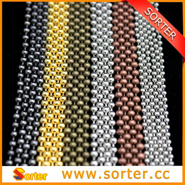 China Ceiling Hanging 3.2mm Metal Ball Bead Chain Curtain