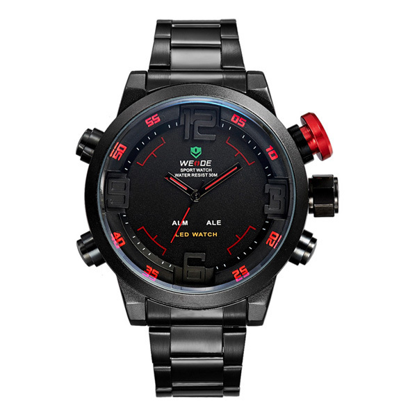 New Men's Watch Fashion Casual Watches Men Luxury Brand WEIDE Led Digit Watch Quartz Relogio Masculino Military Reloj Clock 2015