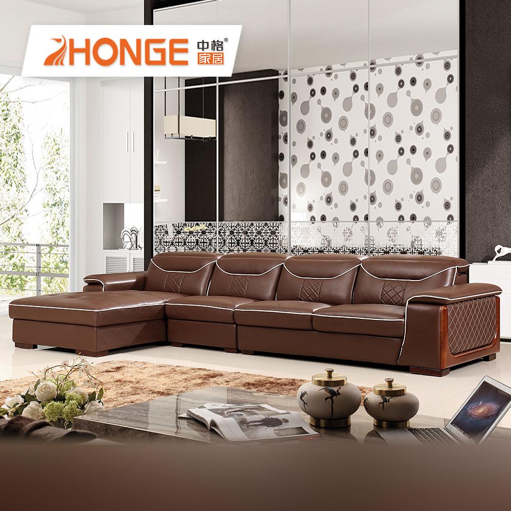 - Home Furniture Corner Modern Design Dark Brown L Shape Simple