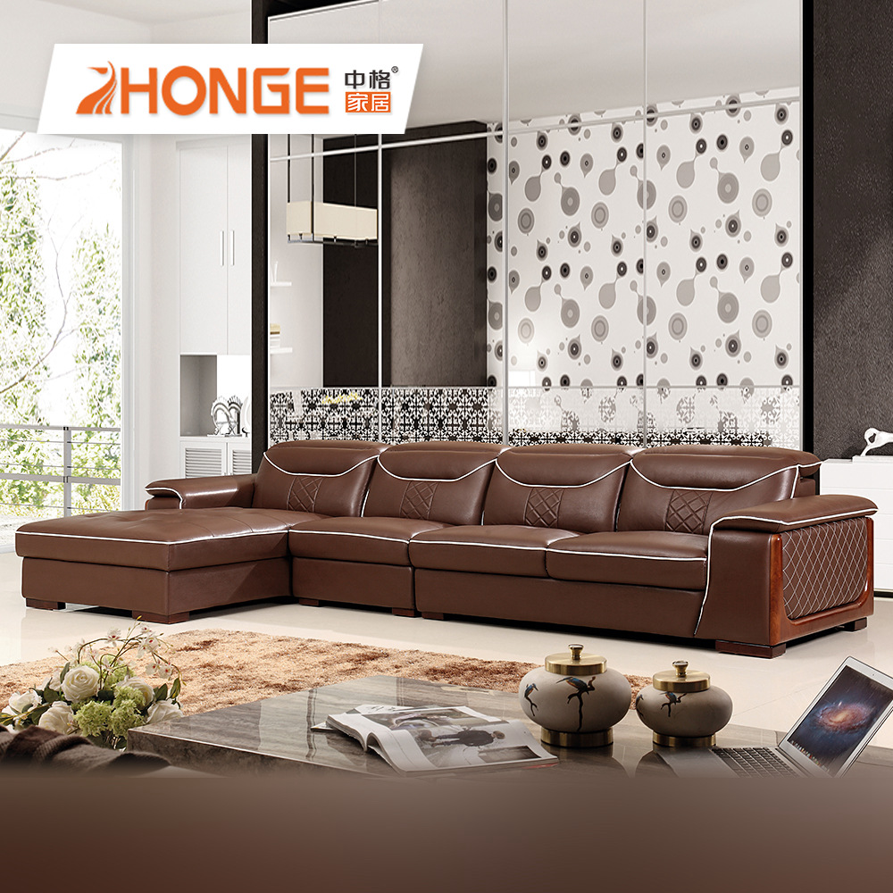 Home Furniture Corner Modern Design Dark Brown L Shape Simple Leather Sofa  - Buy Brown Leather Sofa,Modern Design Leather Sofa,Simple Leather Sofa ...