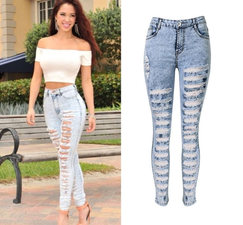 ef610c4b0ccc6 W0810 2016 femme jeans pantalon sexy jeans femme jeans déchirés pour femmes  american apparel perles et