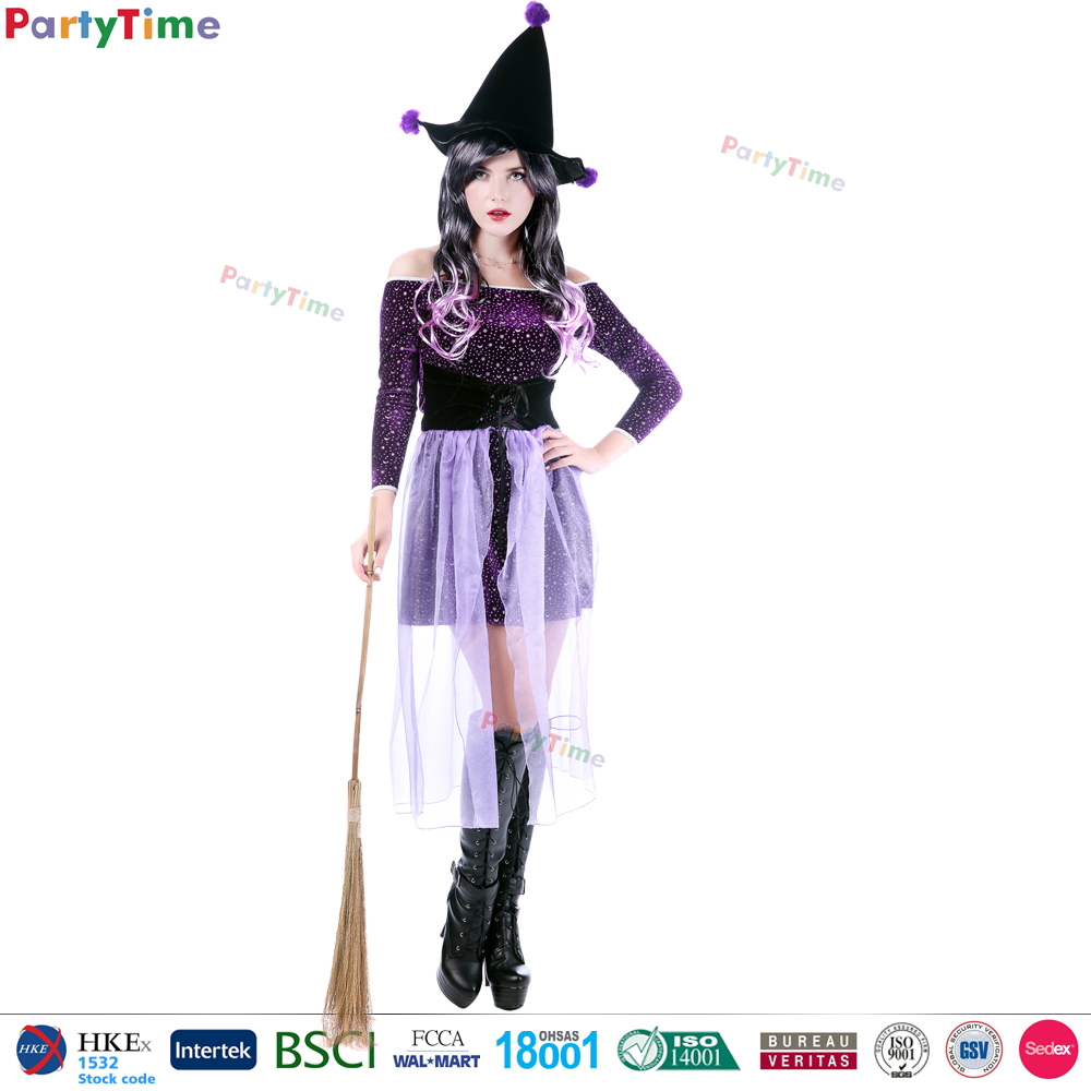2016 wholesale purple sorceress carnival costumes for women cosplay party city halloween costumes girls