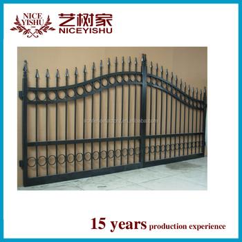 2016 Latest Modern Main Gate Designs /simple Iron Pipe Gate ...