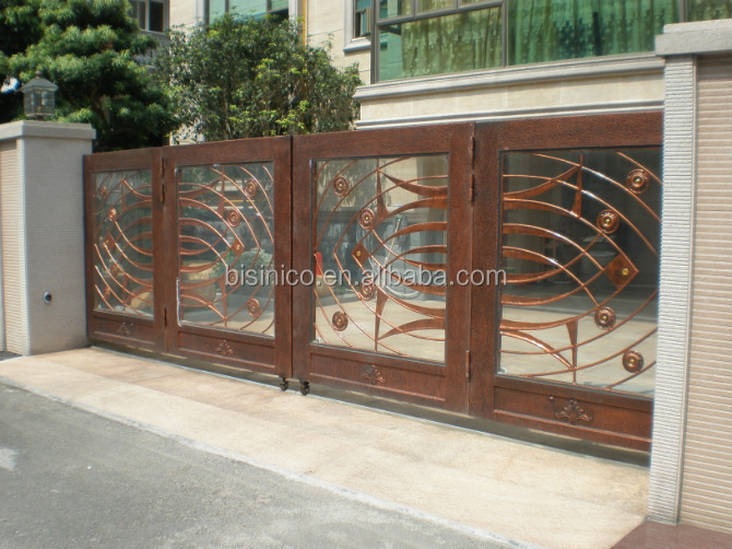 Bisini sliding design iron gate sliding main gate design - Sliding main gate design for home ...