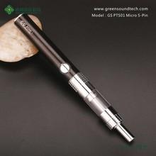 E cigarette china vaporizer pen GS PTS01 Micro 5Pin Vaporizer Wholesale e  pipe Start Kit e cigar