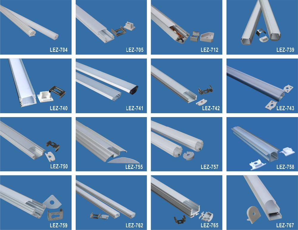 Best Selling Products Aluminum Waterproof Led Extrusion Profile ...