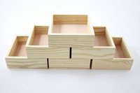 Chinese Manufacturer handmade cheap fancy wood unfinished pine gift wood box without lid for packaging