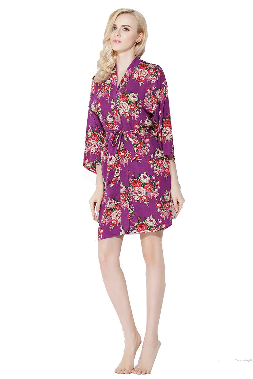 fa9828ffdb Get Quotations · Zarachilable Cotton Floral Robe