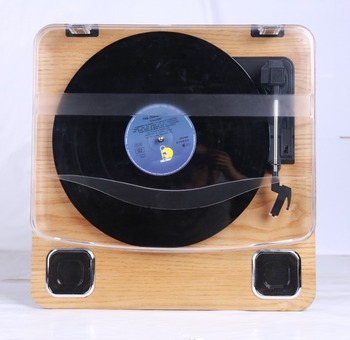 Usb Bluetooth Vinyl Record Player Wooden Suitcase