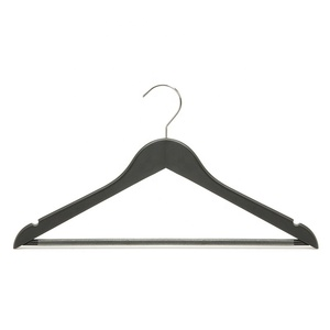 Matt Finishing Luxury Black Wooden Suit Clothes Hanger Turkey