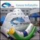 2016 high quality floating giant inflatable climbing water iceberg