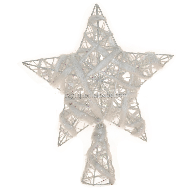 New product ideas 2020 light silver wings christmas decorations tree ornament angel on top x'mas tree