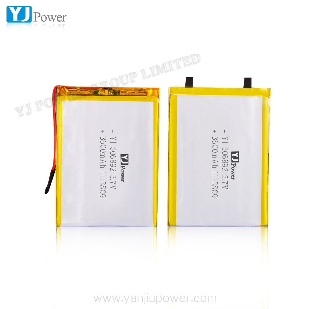 YJ Power 3.7v 506892 3600mAh lithium polymer battery