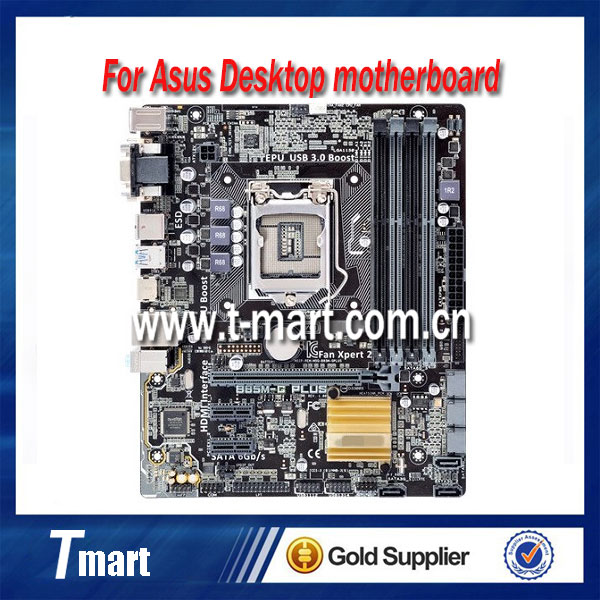 100% working desktop motherboard for Asus B85M-G PLUS B85 1150 DDR3 mainboard all fully tested