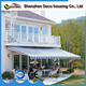 Modern house retractable patio awning 16 motorize
