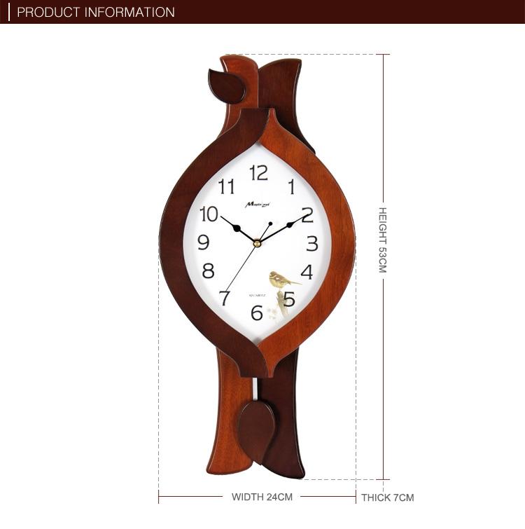 Einzigartige Design Holz Rahmen Pendel Wanduhr Für Wohnzimmer - Buy Pendel  Uhr,Holz Rahmen Wanduhr,Einzigartige Wanduhr Product on Alibaba.com