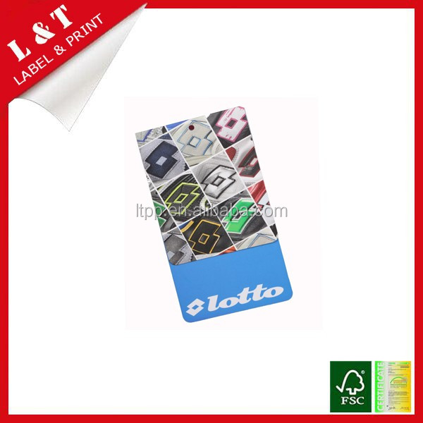 Factory direct art paper security hang tag for luggage, garment, jewelry