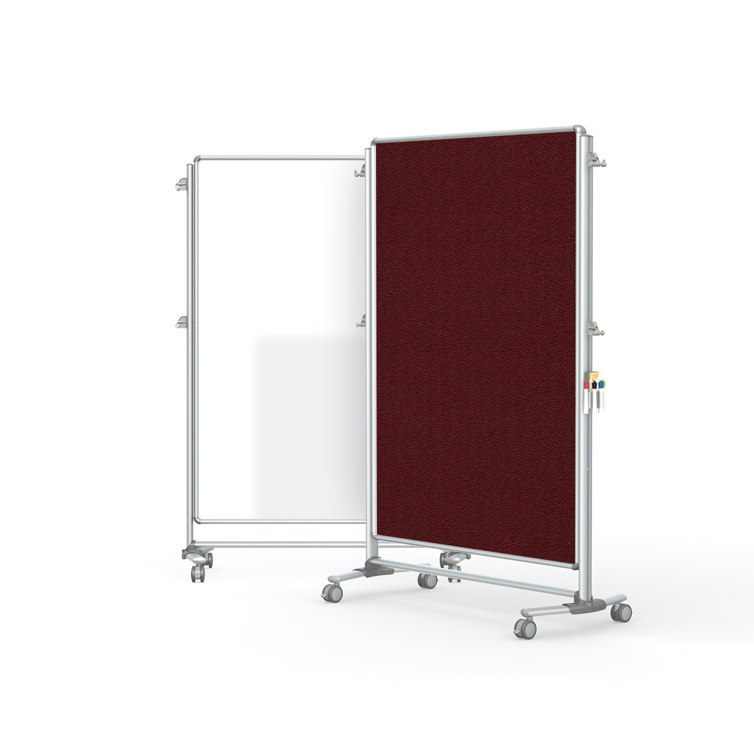 """Ghent 76-1/8"""" x 52-3/8"""" Nexus Partition, Magnetic Whiteboard/Bulletin Board, Double-Sided (NEX224MFP-92)"""