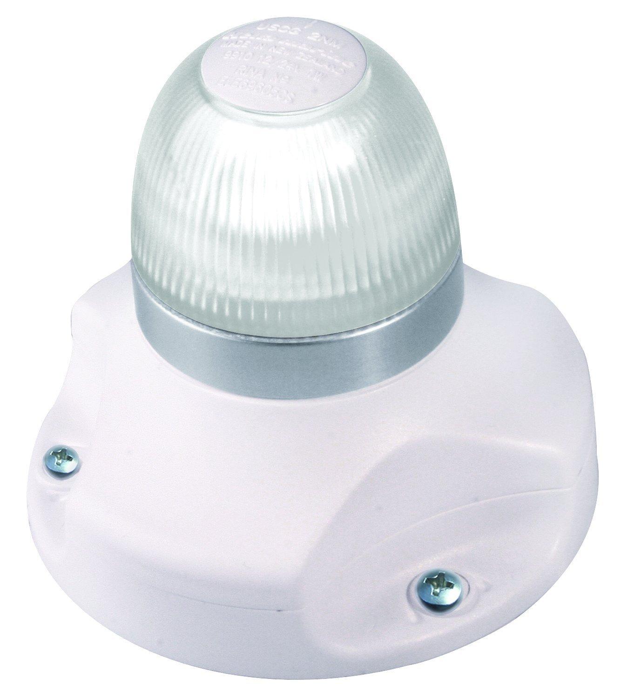 HELLA 980910011 '0910 Series' NaviLED 360 Multivolt White 9-33V DC 2 NM All-Round LED Light with White Fixed Mount Base